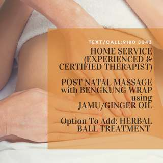 Home Service for Post Natal Treatment