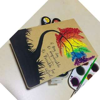 Handpainted Personalized Notebook/Journal/Diary