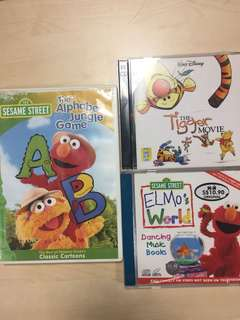 Sesame Street and Winnie the Pooh cds