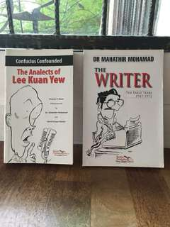 Tun Mahathir and Lee Kuan Yew's book for only RM60 (both)