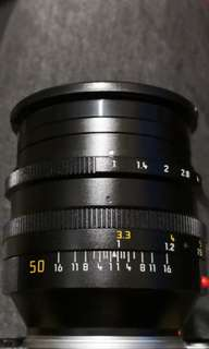 Leica 50mm f1 noctilux v3 with hood
