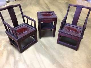 Mini wood furniture