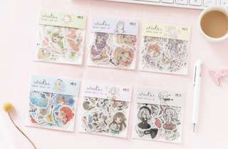 Girl Themed 40 Pieces Flake Sticker