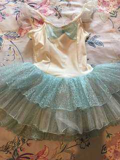 Beautiful Ballerina Dress in light Blue and Cream Suitable for ages 4-5