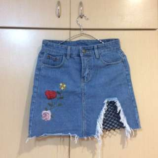 REPRICED! Denim Skirt