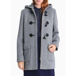 Karen Walker Silver Hooded Duffle Coat