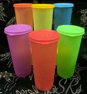 GROSIR GELAS PLASTIK TUTUP / TUMBLER PLASTIK COLOURFUL