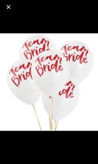 Bride to be latex balloon