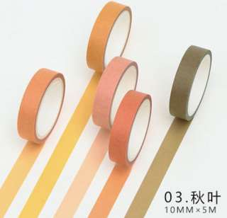 Autumn Leaves 5-in-1 Washi Tape