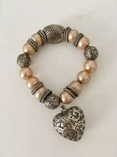Brand new bracket with beaded and pearl