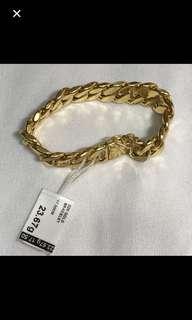 22K/916 Yellow Gold {Fashion Jewelry - Gold Bracelet/Bangle} Beautiful & Classy Unisex 22K/916 Hollow Yellow Gold Bracelet/Bangle