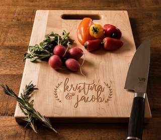 Personalised Cutting Board, Custom made gift present for house warming wedding mother father thanks giving