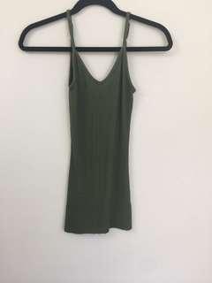 American Eagle Army Green Bodycon Dress