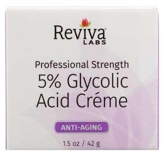 🚚 🔴INSTOCK🔴 Reviva Labs, 5% Glycolic Acid Cream, Anti Aging, 1.5 oz (42 g)
