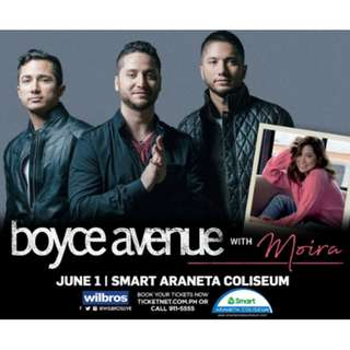 Boyce Avenue with Moira Tickets