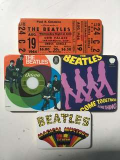 The Beatles wooden fridge magnets 4 pcs