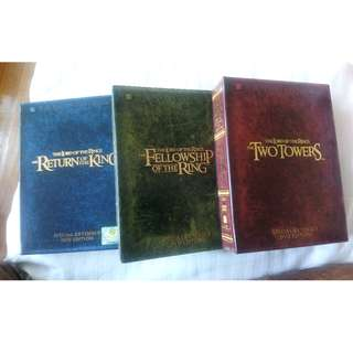 Lord of the Rings DVDs Special Extended Editions