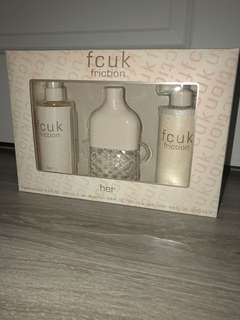 "Fcuk gift set ""for her"" friction"