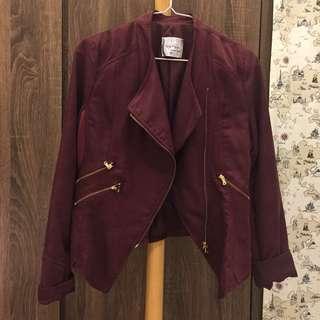 🚚 韓版酒紅色外套