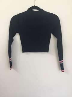 Zara Cropped Long-sleeve Top