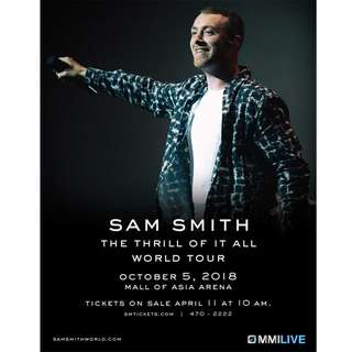 SAM SMITH LIVE IN MANILA - GEN AD