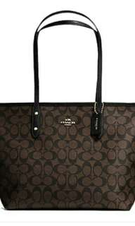 Coach Signature City Zip Tote Bag from Canada