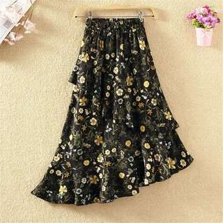 New Floral Long Skirt (Free Mail)