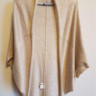NEW TEMT Women Poncho Knit Cardigan Beige Size S/M