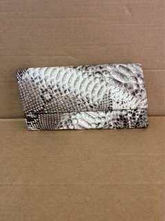 Real snake skin clutch