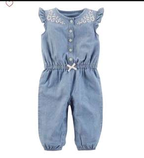 *12M* BN Carter's Chambray Jumpsuit For Baby Girl
