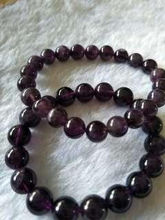 天然 紫水晶10mm$38,8.5mm$28