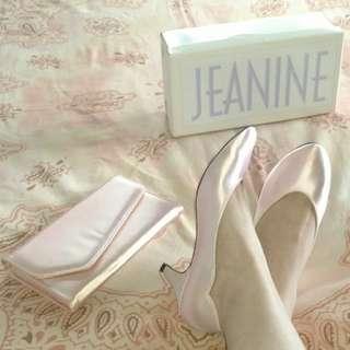 現貨美國二手Vintage 灰姑娘的婚禮鞋組合