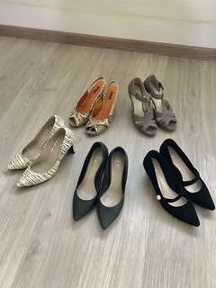 Ladies high heels shoes size 35 fire sales