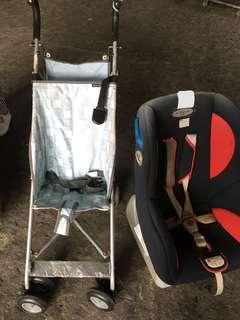Car Seat w/ free umbrella Richell Stroller