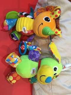 Bundle 2pcs Lamaze Toys dog/triceritops