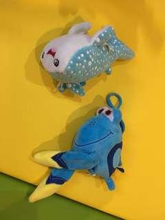Plush Finding Nemo toys for crib/stroller