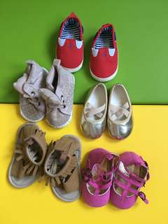 5pcs Baby shoes 6mos and up