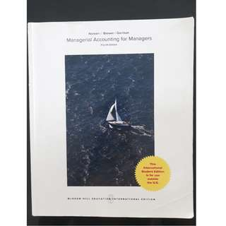AD2101 Management Accounting Textbook