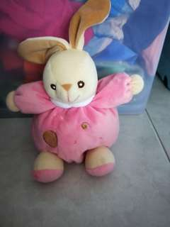 Baby pink rabbit with bell