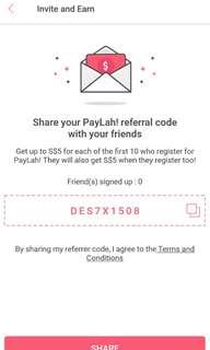 free paylah $5 credits