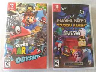 Nintendo Switch Super Mario Odyssey and Minecraft