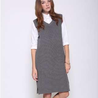 Preloved - Love Bonito LB Kadienne Knit Dress in Grey (Size XS)