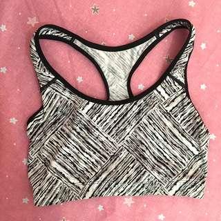 CRIVIT Sport bra black and white stripes