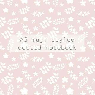 Muji styled dotted notebook (PRE-ORDER)