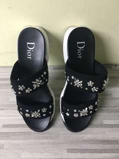 Dior Diamonds sandals with two straps