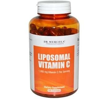 Dr. Mercola, Liposomal Vitamin C, 180 Capsules