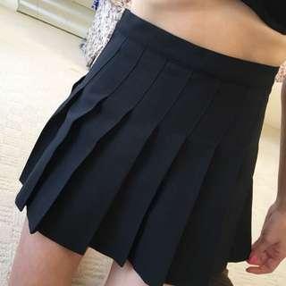 American Apparel Black Tennis Skirt