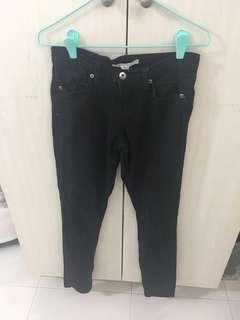 F21 denim jeans In acid wash black (waist 25)