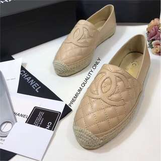 Chanel genuine leather shoes espadrilles