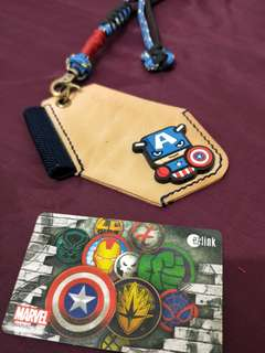 Avengers Leather card holder lanyard